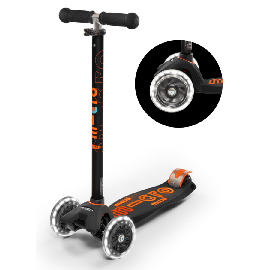 Maxi Micro scooter Deluxe Black LED