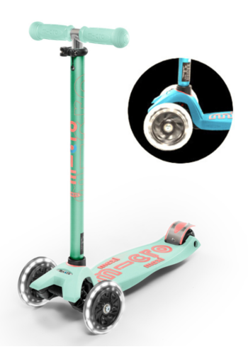 Maxi Micro scooter Deluxe LED Mint
