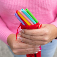 MontiiCo Silicone Straw Set - Fruity Pop