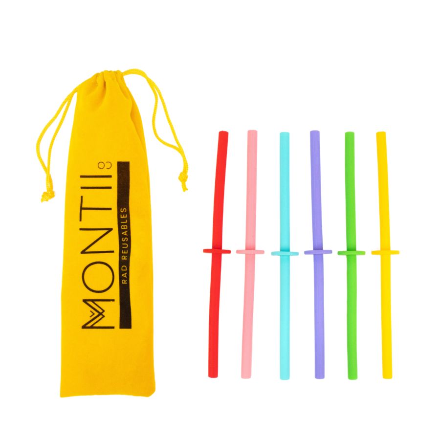 MontiiCo Straws - Silicone Mini Stopper Straw Set