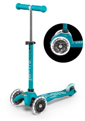Mini Micro scooter Deluxe LED aqua