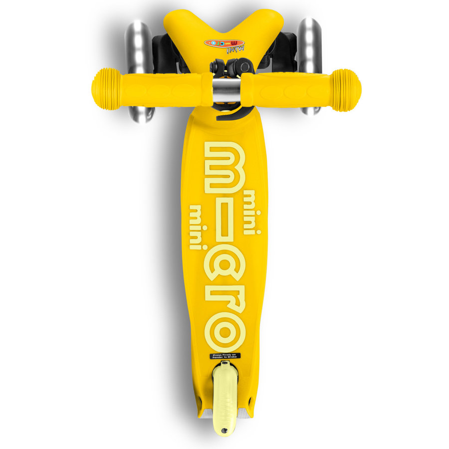 Mini Micro scooter Deluxe Yellow LED