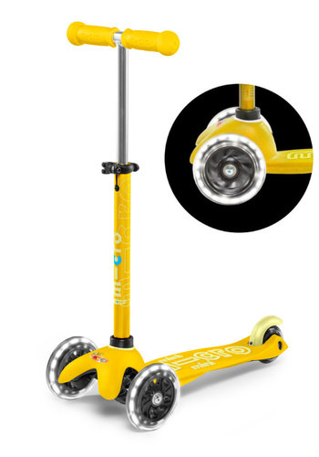 Mini Micro scooter Deluxe LED Yellow