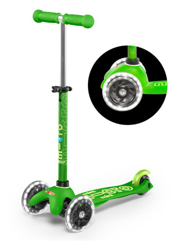 Mini Micro scooter Deluxe LED Green
