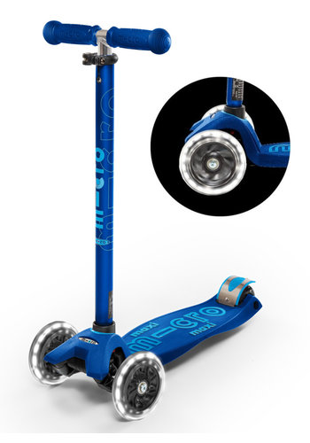 Maxi Micro scooter Deluxe LED Navy Blue