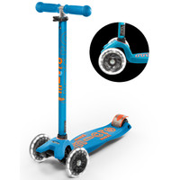 Maxi Micro scooter Deluxe Caribbean Blue LED