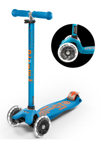 Maxi Micro scooter Deluxe LED Caribbean Blue