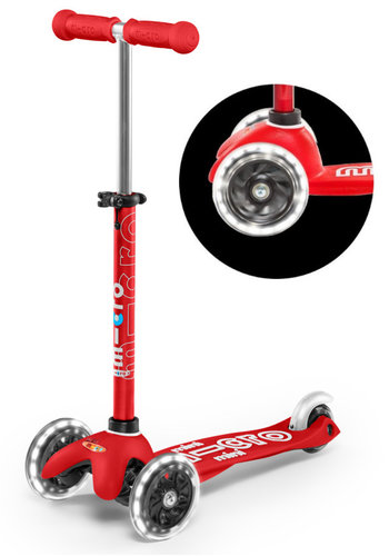 Mini Micro scooter Deluxe LED Red