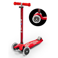 Maxi Micro scooter Deluxe Red LED