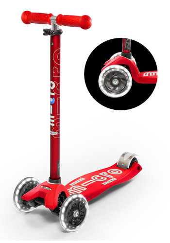 Maxi Micro scooter Deluxe LED Red