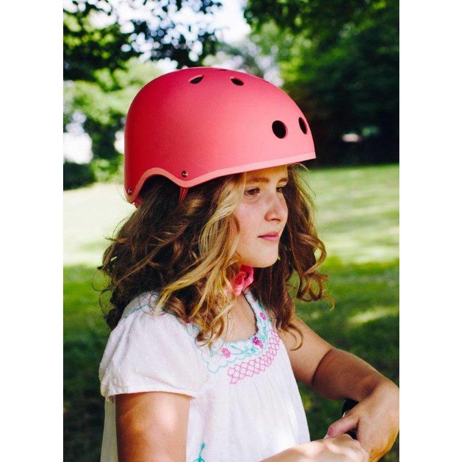Micro helm Classic mat Koraalroze