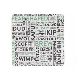 Victoria Eggs Army Slang Coaster