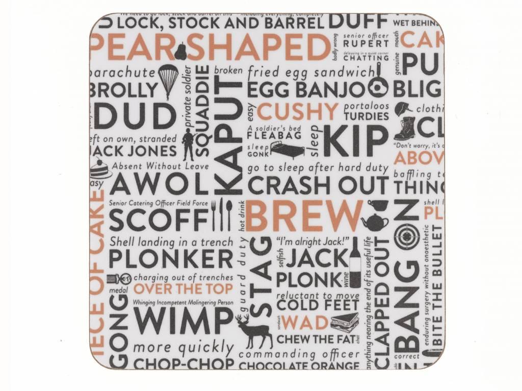 Victoria Eggs Army Slang Coaster