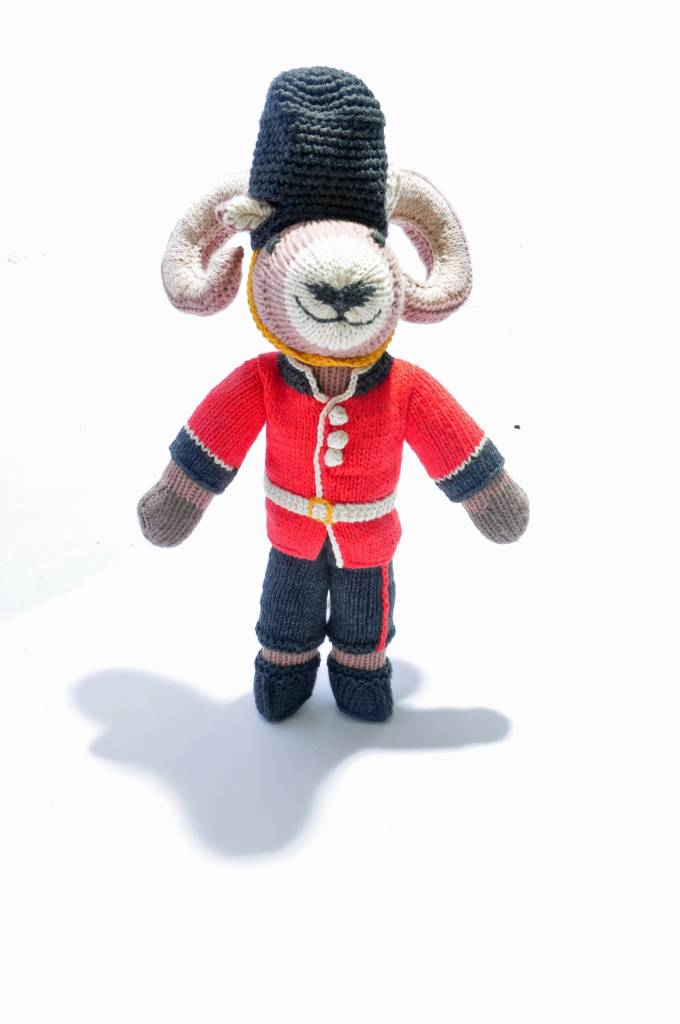 Hand Knitted Ram Soft Toy