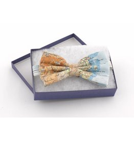 Silk Map Bow Tie
