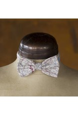 Home Front Vintage Escape and Evade Silk Map Ready Tied Bow Tie