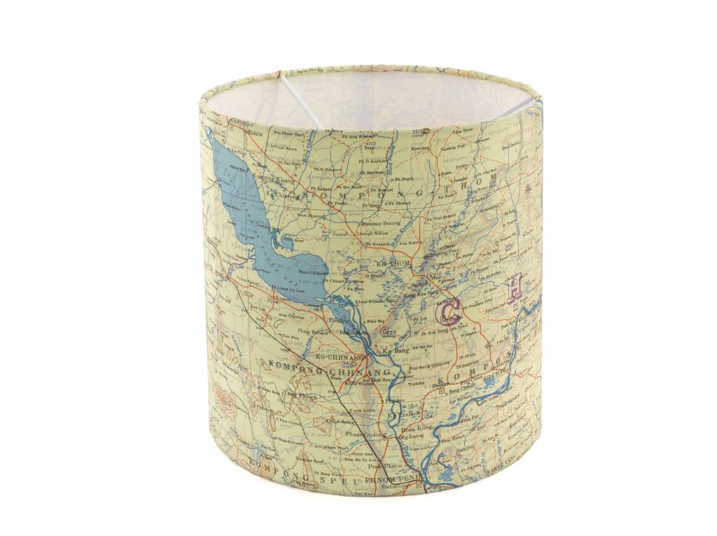 Home Front Vintage Escape and Evade Silk Map  Lampshade