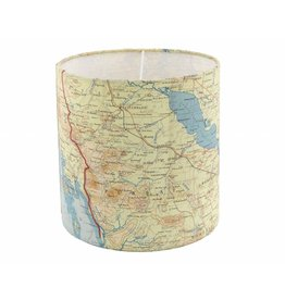 Silk Map Lampshade