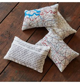 Home Front Vintage Silk Map Lavender Bag
