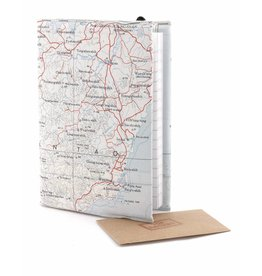 Home Front Vintage Silk Map Lined Notebook
