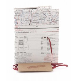 Silk Map Plain Notebook