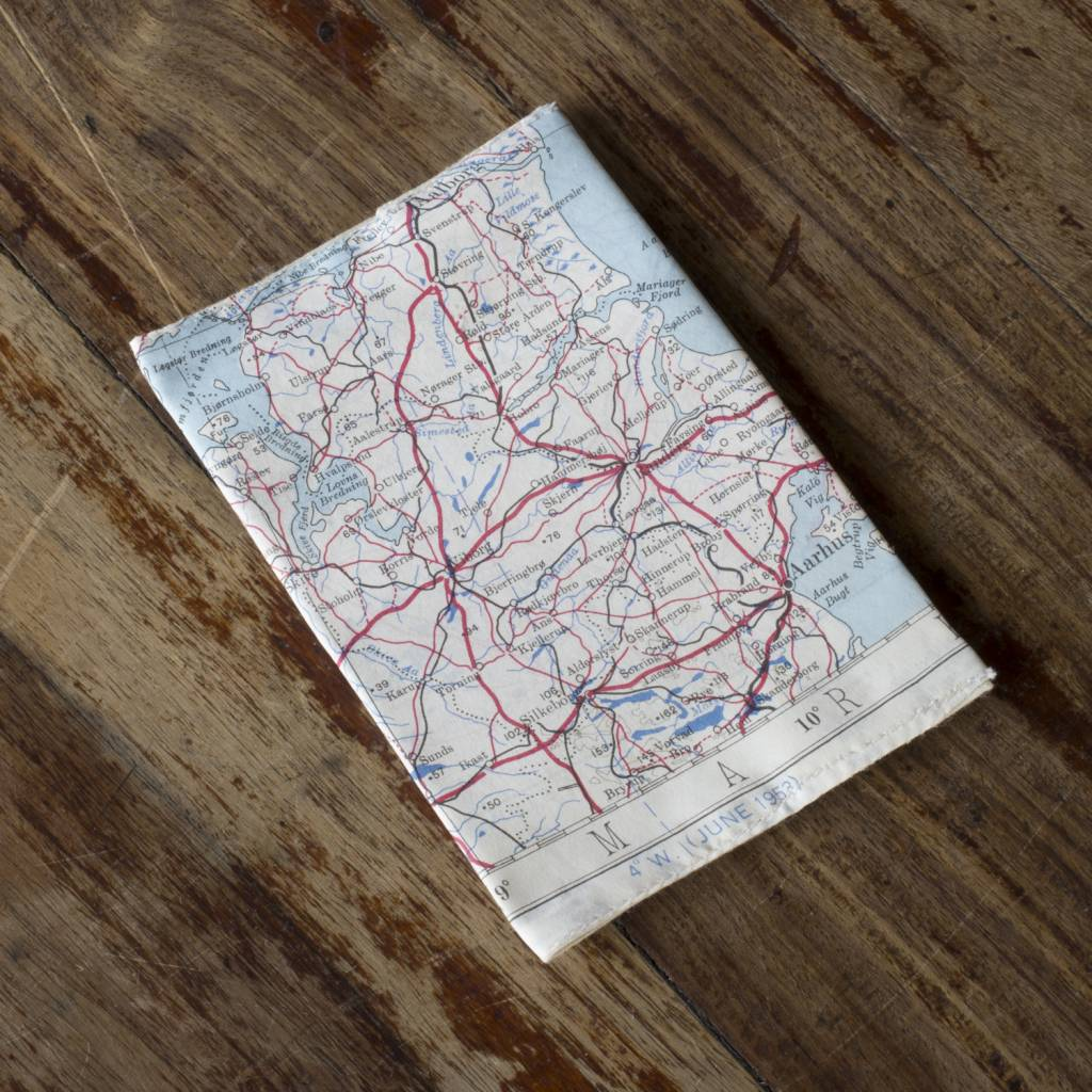 Home Front Vintage Escape and Evade Silk Map Passport Cover