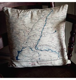 Home Front Vintage Silk Map Cushion