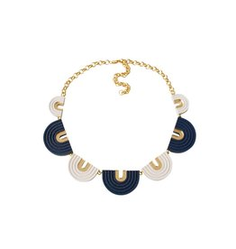 Wolf & Moon Arches Collar Necklace Blue