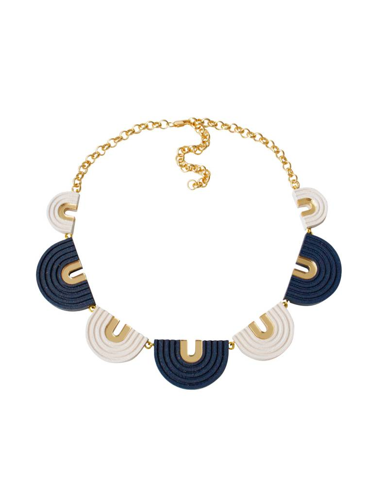 Wolf & Moon Wolf & Moon Arches Collar Necklace Midnight Blue