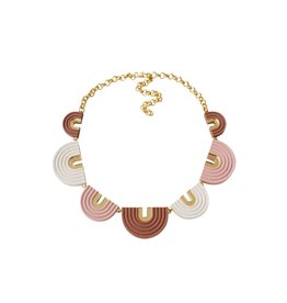 Wolf & Moon Arches Collar Necklace Pink