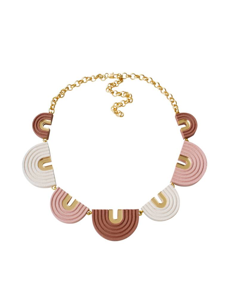 Wolf & Moon Wolf & Moon Arches Collar Necklace Pale Pink