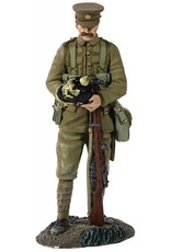 W Britain: British Infantry with Souvenir German Helmet