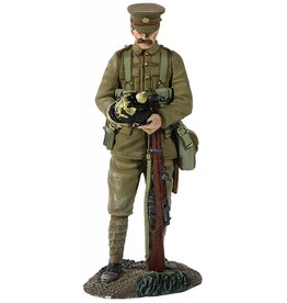British Infantry with German Helmet