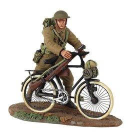 British Infantry Pushing Bicycle