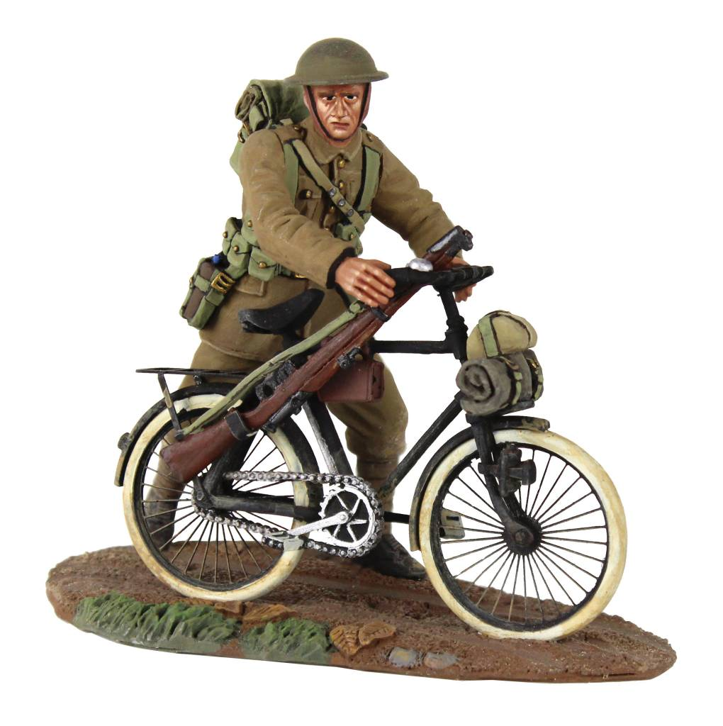 W Britain: British Infantry Pushing Bicycle