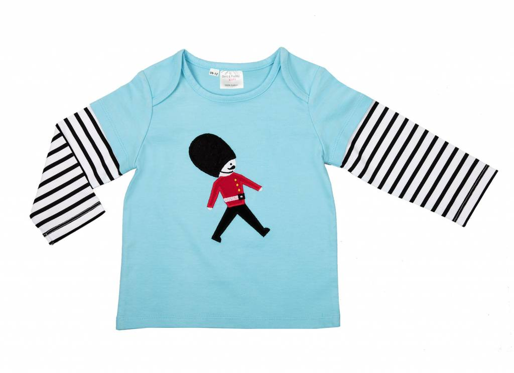 Bert & Freddy Soldier Long Sleeve Blue Top