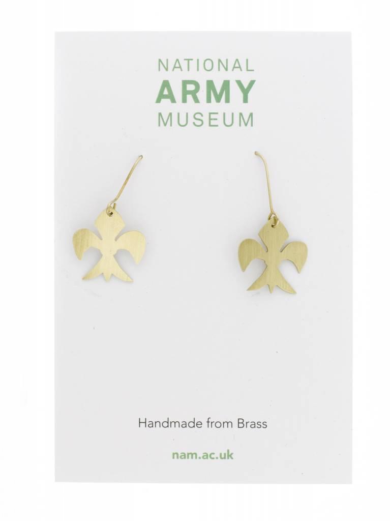 Just Trade Fleur de lys Earrings Brass