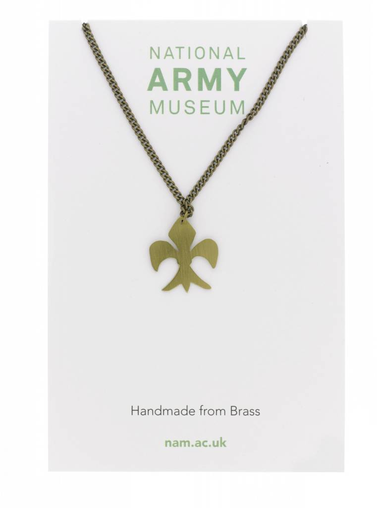 Just Trade Fleur de lys Necklace Brass