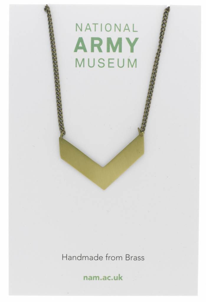 Just Trade Single Chevron Necklace Brass