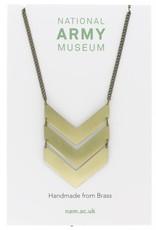 Just Trade Triple Chevron Necklace Brass