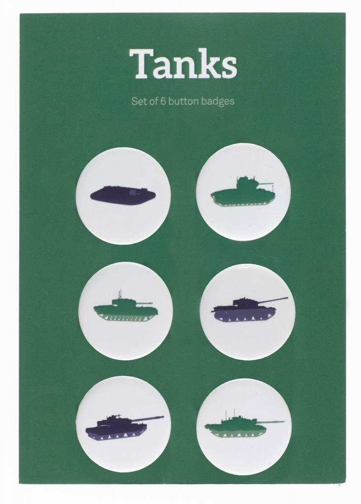 Tanks Pin Badges (6 pack)