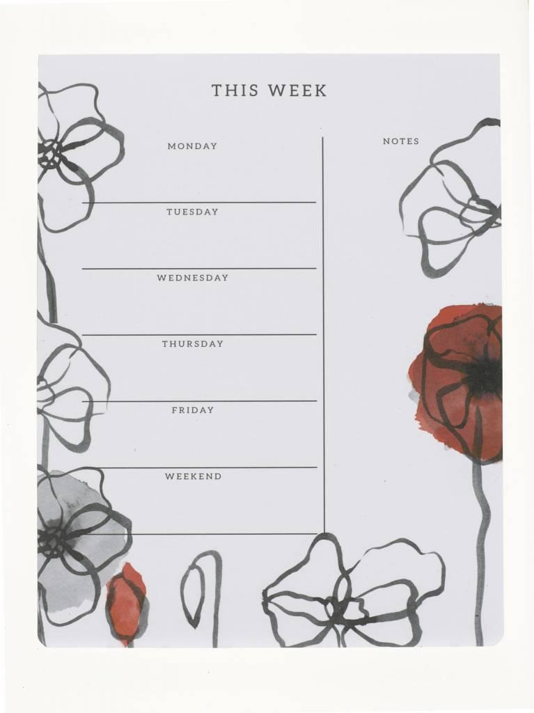 Field Poppy Weekly Planner