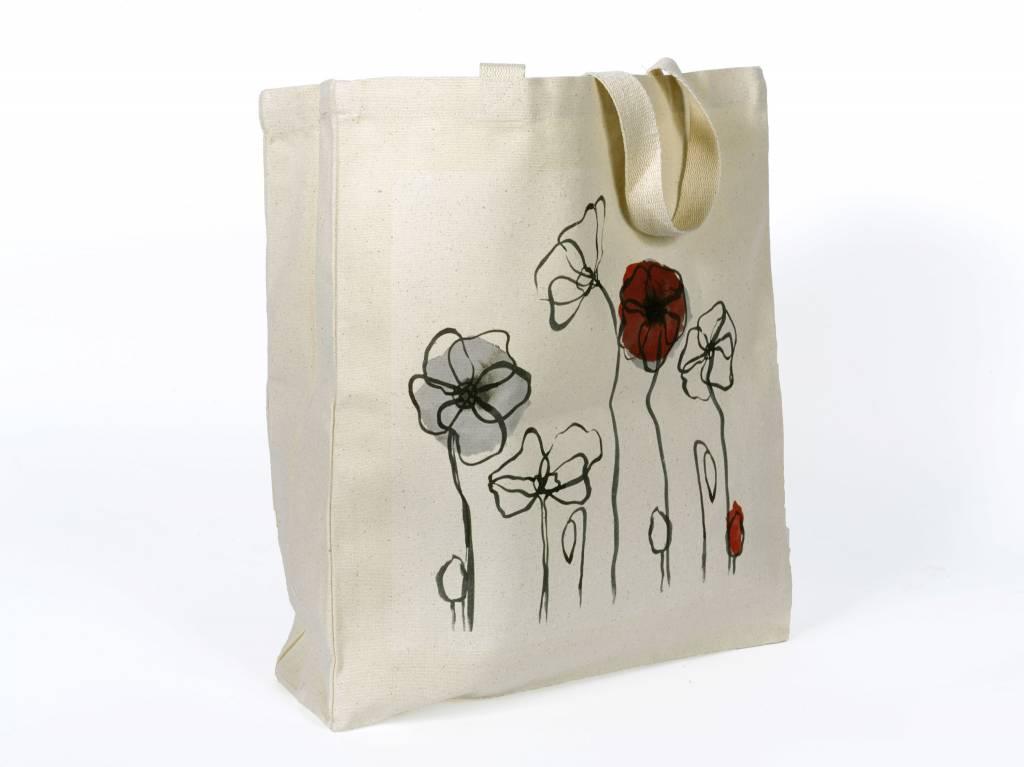 Field Poppy Canvas Bag