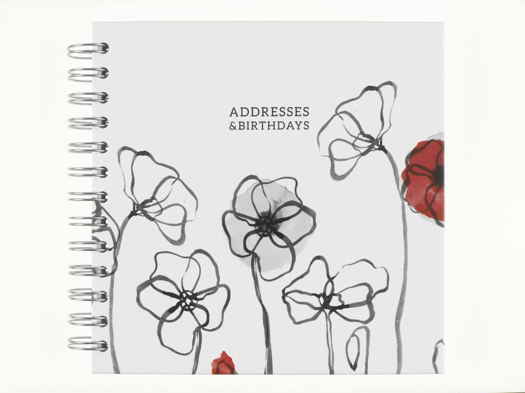 Field Poppy Address Book