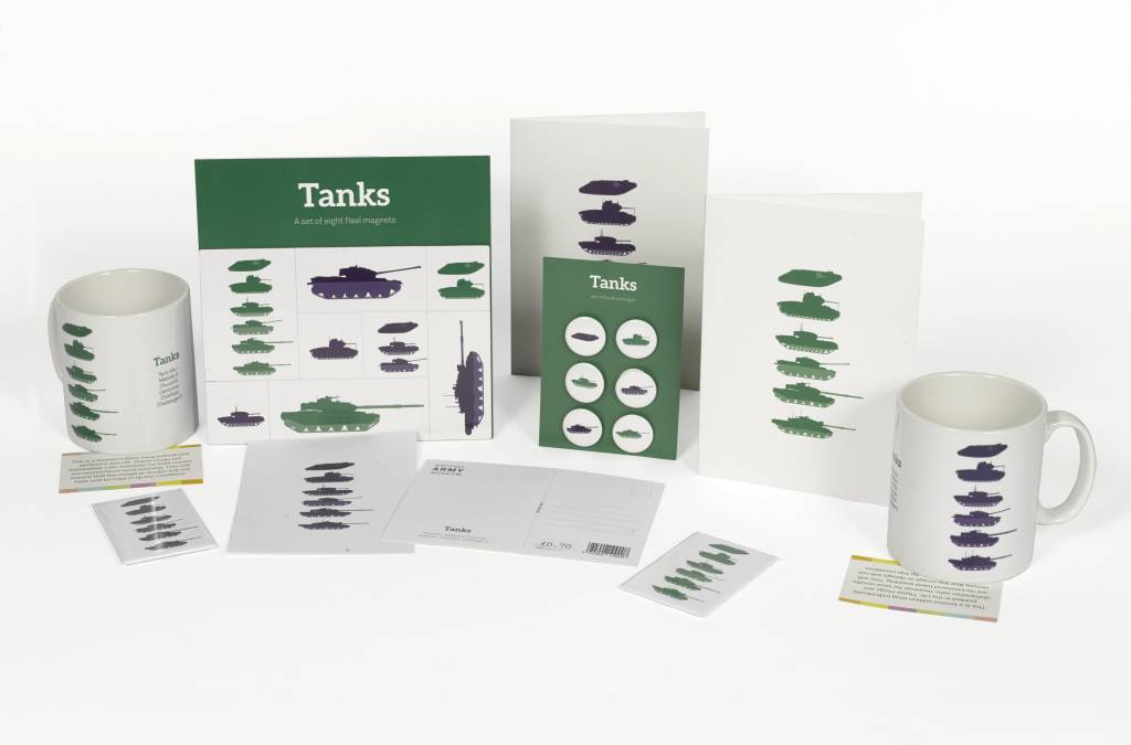 Stacked Tanks Postcard