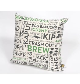 Army Slang Cushion Green