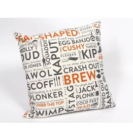 Army Slang Cushion  Orange