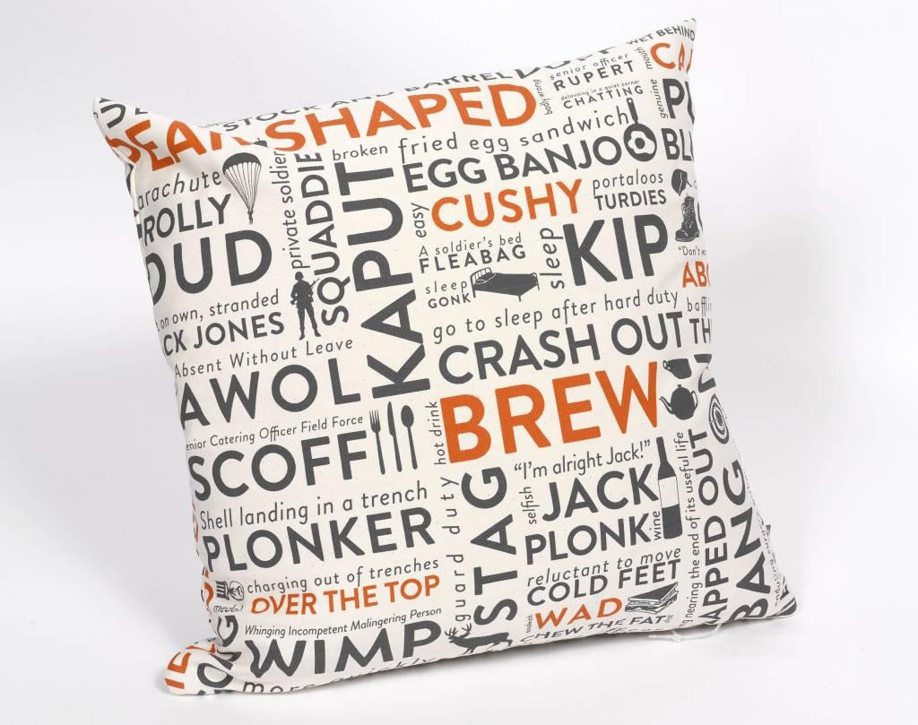 Army Slang Cushion Orange