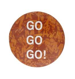 Button Badge Orange Go Go Go