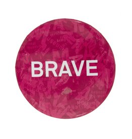 Button Badge Pink Brave